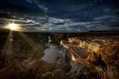Grand Falls in Golden Light